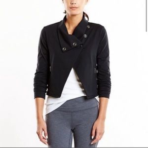 Lucy Black Cropped Hatha Wrap Jacket